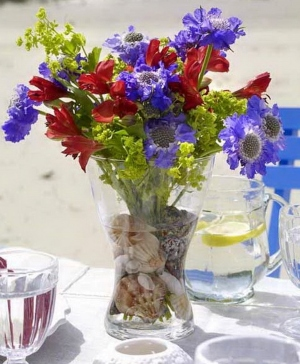 Table Centerpieces With Seashells