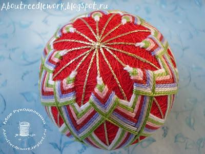 Вышивка шара темари