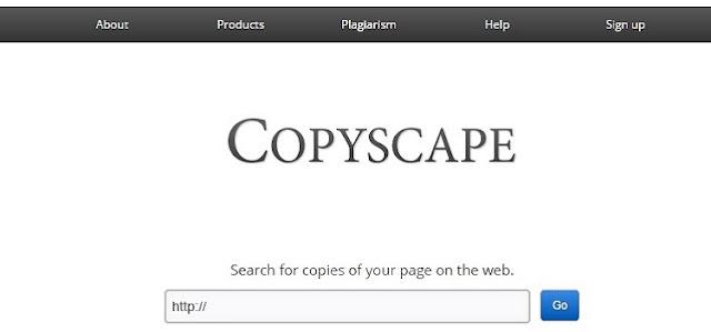 Copyscape Plagiarism Detector