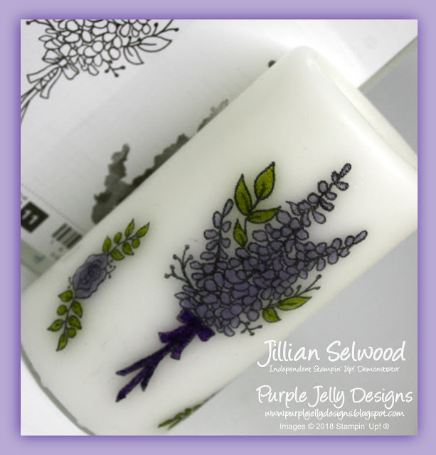 Lots of Lavender Stamp Set, Decorated Candle