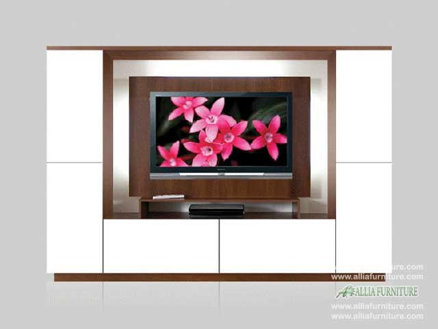 lemari pajangan tv lcd minimalis milan