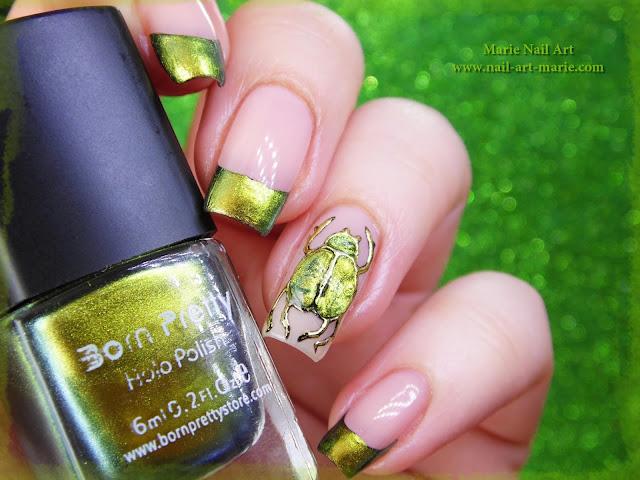 nail art scarabée5