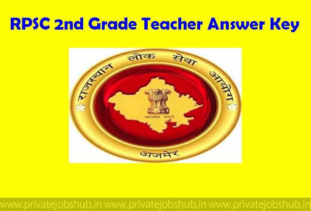 RPSC 2nd Grade Teacher Answer Key