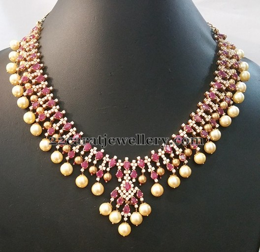 Ruby CZ Necklace 51 Grams
