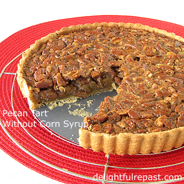 Pecan Tart - Without Corn Syrup / www.delightfulrepast.com
