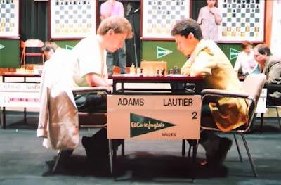 Partida de ajedrez Adams - Lautier