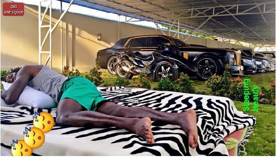 Emmanuel Adebayor Shows Off His Sick Cars In His Garage (Photos)