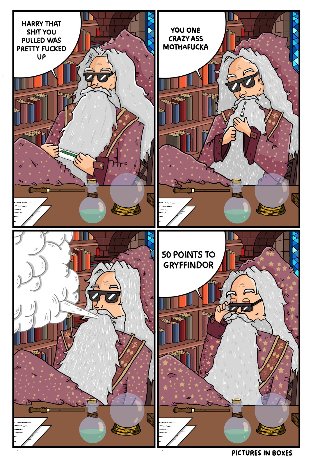 Dumbledore awards points to Gryffindor in this comic