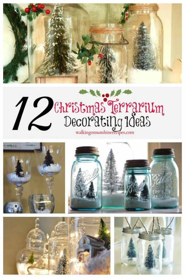 12 Christmas Terrarium Decorating Ideas from Walking on Sunshine
