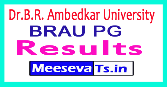 Dr.B.R. Ambedkar University PG Results April 2017