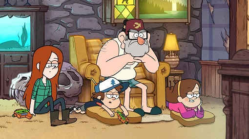 Una escena del episodio Dreamscapers de Gravity Falls