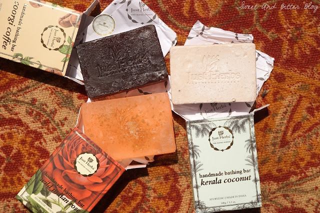 Just Herbs Kerala Coconut, Coorgi Coffee, Wild Indian Rose Handmade Soaps Review India
