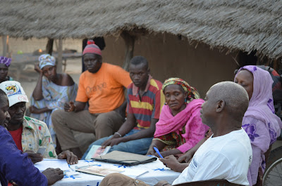 A Tostan meeting in Yama's village of Bougnadou Manjaque.