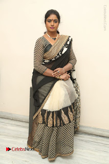 Telugu Actress Jayavani Jayavani Stills in Black Saree at Intlo Deyyam Nakem Bhayam Success Meet  0096.JPG