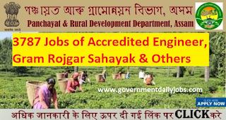 PNRD Assam Recruitment 2017 Apply 3787 Accredited Engineer Jobs