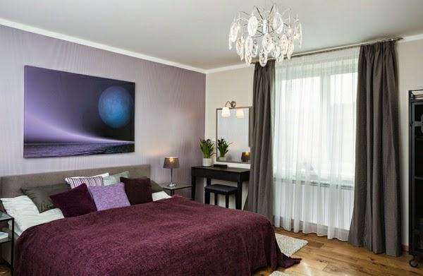 Dormitorios en morado y gris dormitorios colores y estilos - Dormitorio gris ...