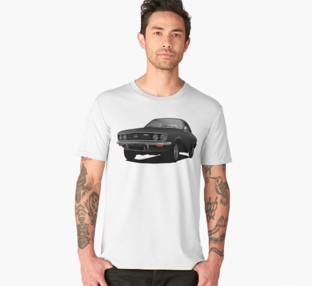 Black Opel Manta A - t-shirts in Redbubble