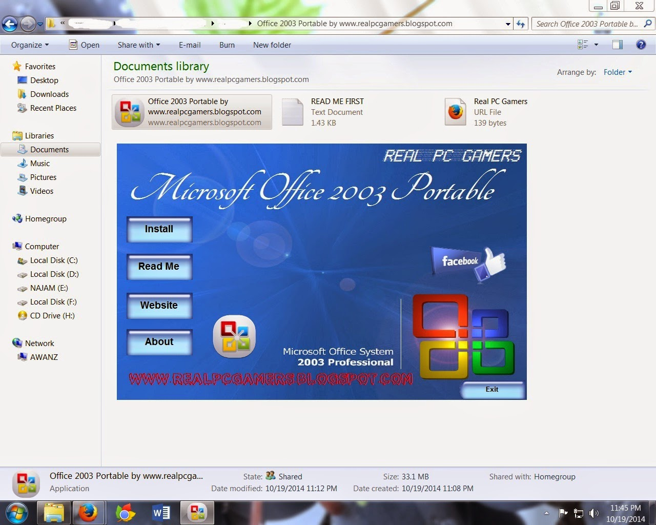 free ms office 2003