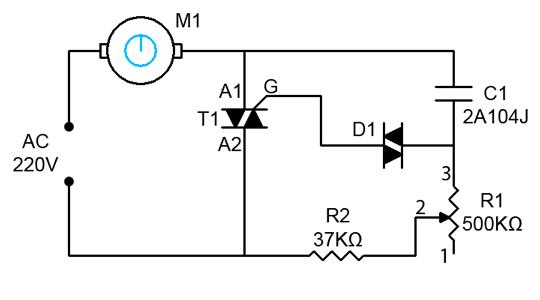 Membuat rangkaian pengatur kecepatan alat listrik 220V AC