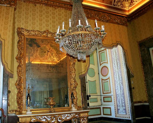 specchio, camera, lampadario