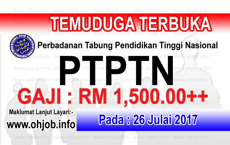 Jawatan Kerja Kosong Perbadanan Tabung Pendidikan Tinggi Nasional - PTPTN logo www.ohjob.info julai 2017