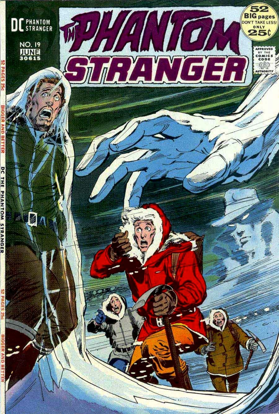 Phantom Stranger #19 - 1970s dc horror comic book cover art by Neal Adams