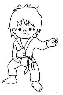 Dibujo De Karate Para Colorear 4 Dibujo