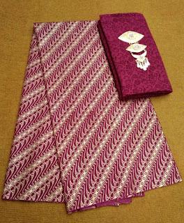 Kain Batik dan Embos 727 Motif Parang Kecil Maroon