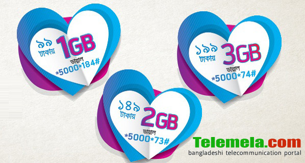 Grameenphone Valentine's Day internet packs