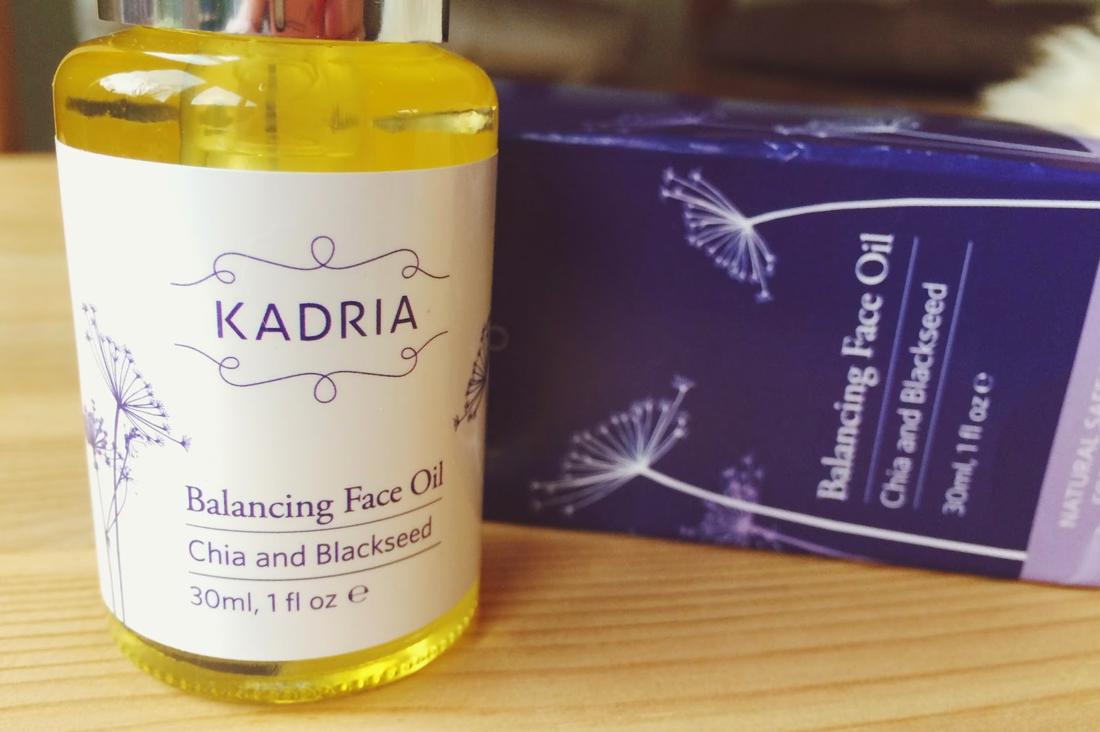 FashionFake, a UK fashion and lifestyle blog. Kadria Balancing Face Oil is a natural oil made with chia and blackseed - FashionFake reviews!