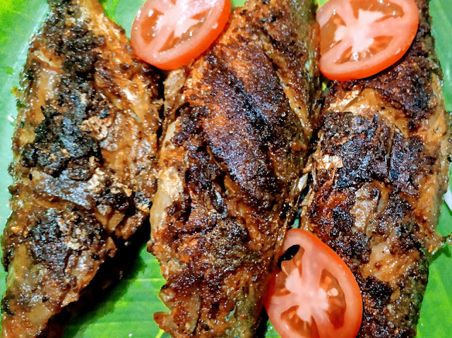 3 crisp golden mackerel (bangda) fish Tawa fry Recipe