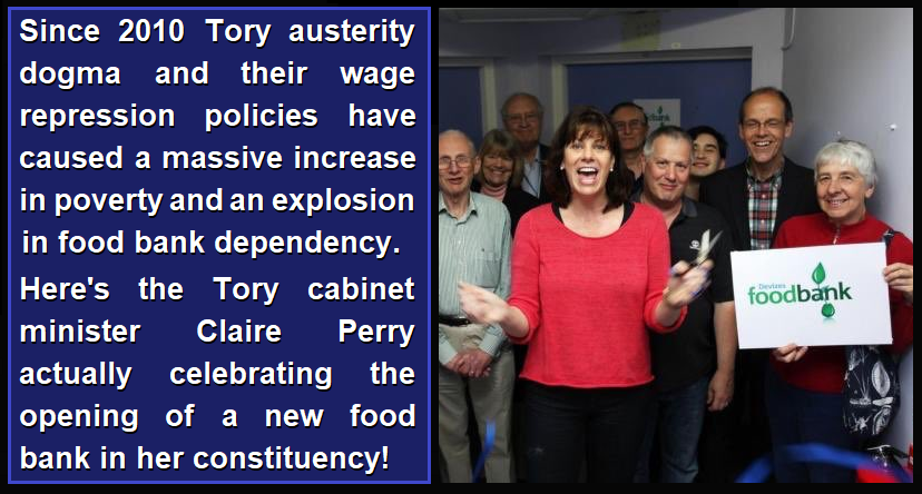 Image result for photos of tories at food banks