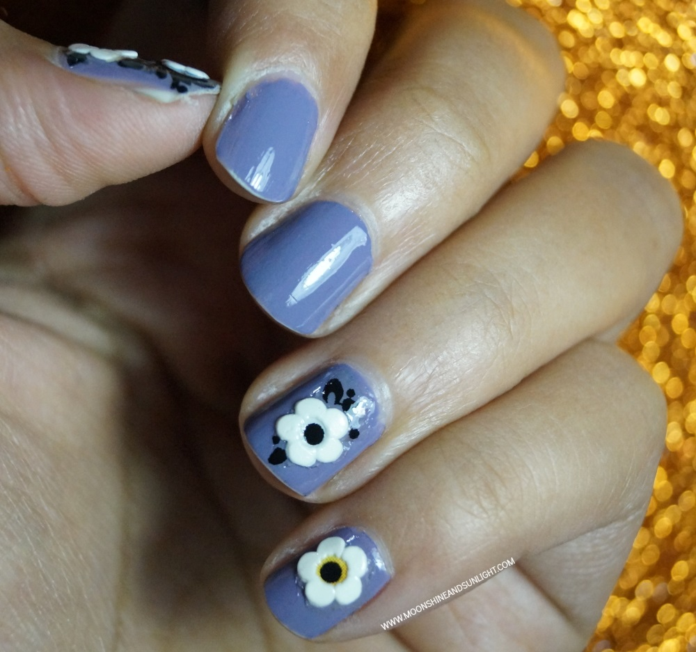Floral Sticker Nails Easy Nail Art Moonshine And Sunlight
