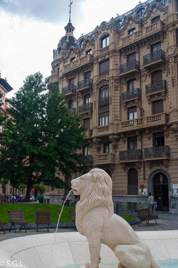 Fuente de los leones. Bilbao