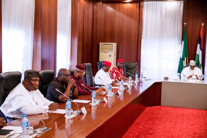 Details of Buhari's meeting with Southeast govs, As Ekweremadu emerge