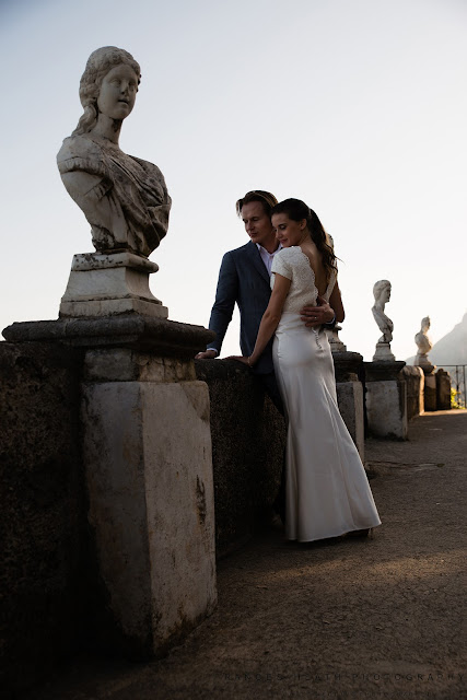 Bride and groom at Villa Cimbrone