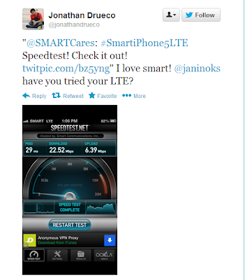 Smart LTE in Katipunan Avenue, QC