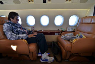 Big B has a cool private jet
