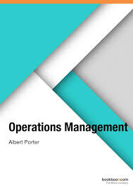 OPERATION MANAGEMENT BY ALBERT PORTER