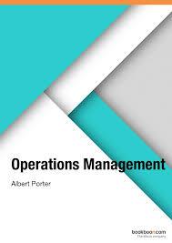 OPERATION MANAGEMENT BY ALBERT PORTER
