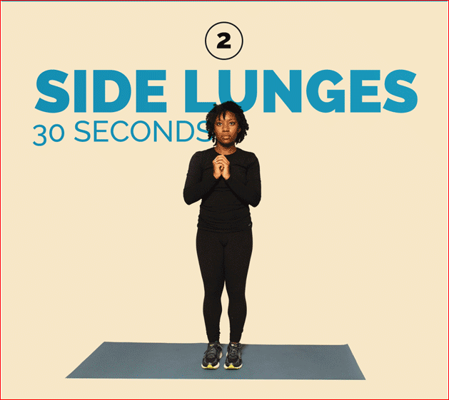 Side Lunges 30 Seconds