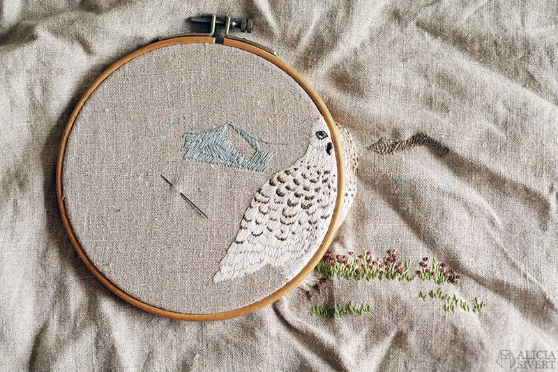 aliciasivert alicia sivert alicia sivertsson kreativitet skapa skapande broderi fjälluggla snowy owl embroidery