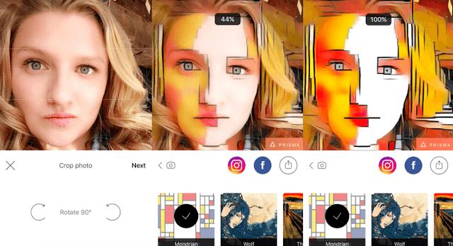 Tutorial Menggunakan Aplikasi Edit Foto Prisma di Android