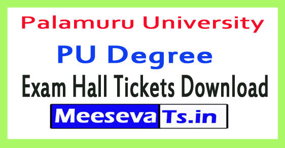 Palamuru University PU Degree Exam Hall Tickets Download 2017