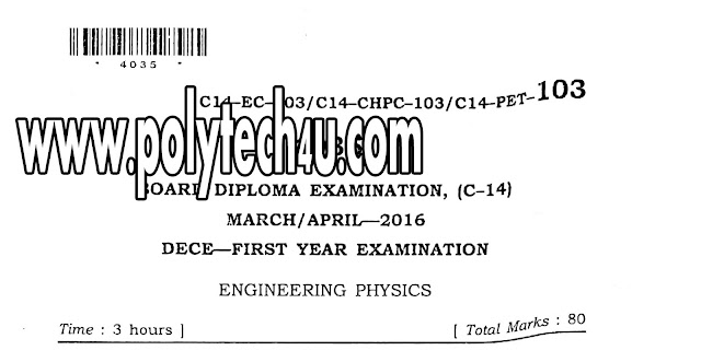 C-14 ECE PHYSICS QUESTION PAPER