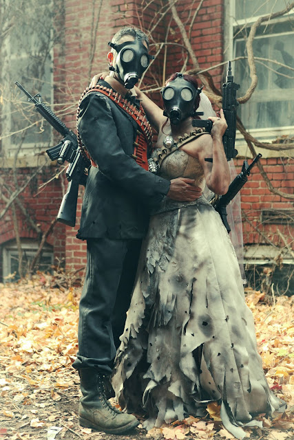 This is not your typical wedding! Check out this badass Fallout style wedding shoot.