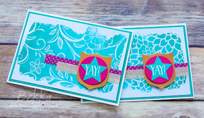Yay! Celebration Card made with Stampin' Up! UK Supplies which you can buy here