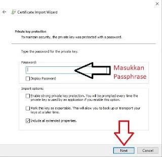 Masukkan Passphrase