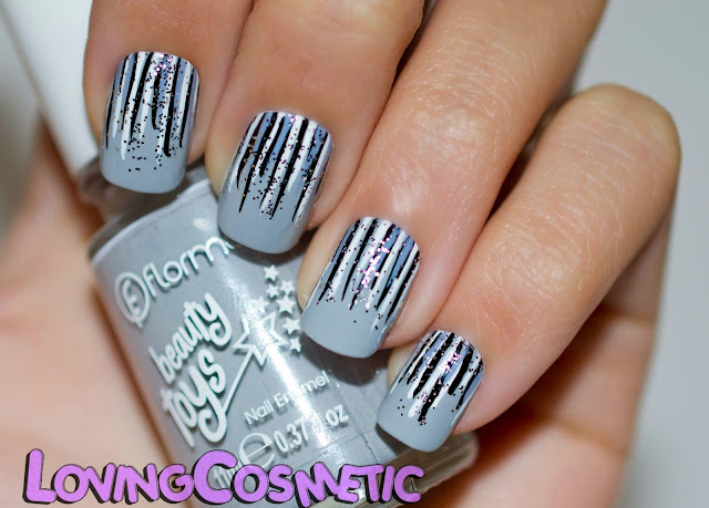 Flormar nail art diseño uñas nails beauty toys esmalte nail polish gris princess castle