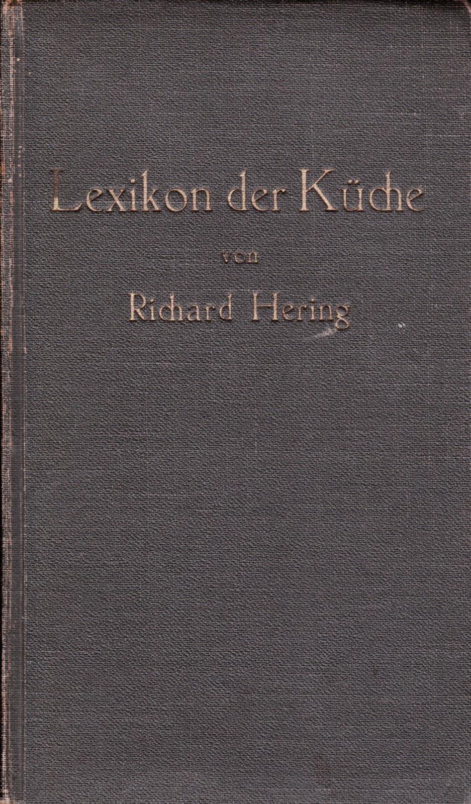 Richard Hering Lexikon Der Küche  Bayern@sozialkunde.de Für